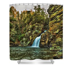 The Plunge Basin Shower Curtain
