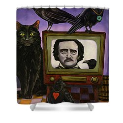 The Poe Show Shower Curtain by Leah Saulnier The Painting Maniac
