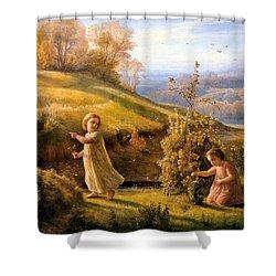The Poem Of The Soul Spring Anne Francois Louis Janmot 1854. Shower Curtain