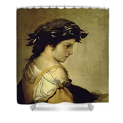 The Poem Shower Curtain by Salvator Rosa