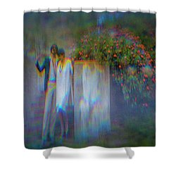 The Poet Shower Curtain
