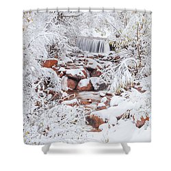 The Poetic Beauty Of Freshly Fallen Snow  Shower Curtain