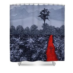 The Poison Stream Shower Curtain by Stanza Widen