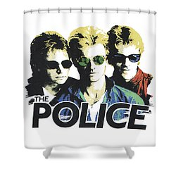 The Police Shower Curtain by Gina Dsgn