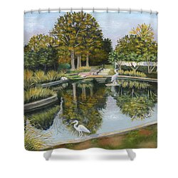 The Pond At Maple Grove Shower Curtain