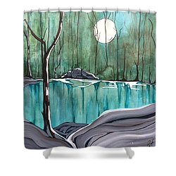 The Pond Shower Curtain by Pat Purdy