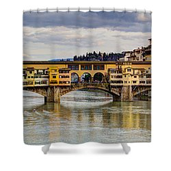 Shower Curtain featuring the photograph The Ponte Vecchio by Wade Brooks