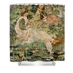 The Pool Shower Curtain by Edward Atkinson Hornel