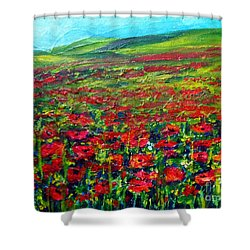 The Poppy Fields Shower Curtain