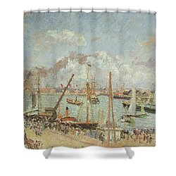 The Port Of Le Havre In The Afternoon Sun Shower Curtain by Camille Pissarro
