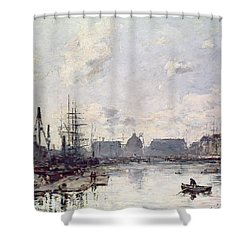 The Port Of Trade Shower Curtain by Eugene Louis Boudin