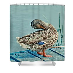 The Pose Shower Curtain by Aimelle