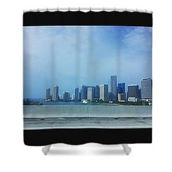 Miami Cityscape Shower Curtain