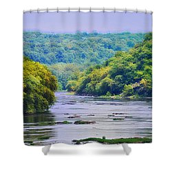 The Potomac Shower Curtain by Bill Cannon