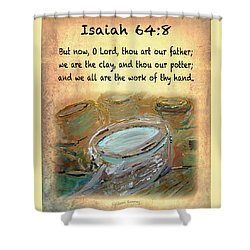 The Potter Bible Verses Shower Curtain