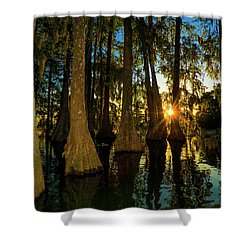 The Pow Wa Of The Light Shower Curtain by Kimo Fernandez