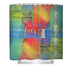 Shower Curtain featuring the digital art The Power Of Colour by Tara Turner