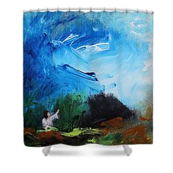 The Prayer In The Garden Shower Curtain by Kume Bryant