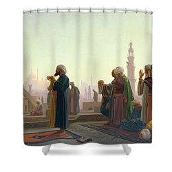 The Prayer Shower Curtain