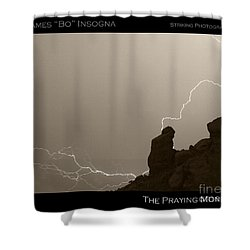 The Praying Monk Camelback Mountain Shower Curtain by James BO  Insogna