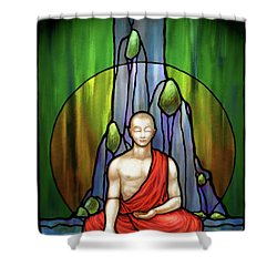 The Praying Monk Shower Curtain