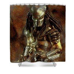 The Predator Scroll Shower Curtain