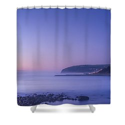 The Predawn Mist Shower Curtain