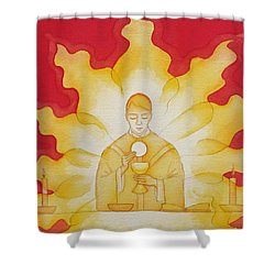 The Presence Of Jesus Christ In The Holy Eucharist Shower Curtain