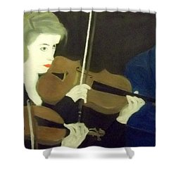 The Prettiest Violinist In The Orchestra Shower Curtain
