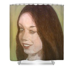 The Pretty Brunette Shower Curtain