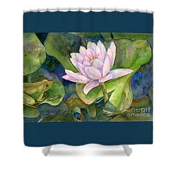 The Prince Of Peace Pond Shower Curtain