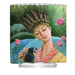 The Princess And The Crow Shower Curtain by Terry Webb Harshman