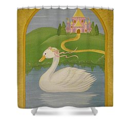 The Princess Swan Shower Curtain