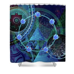 The Prism Of Time Shower Curtain by Kenneth Armand Johnson