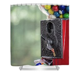 The Problem With Gumball Machines Shower Curtain