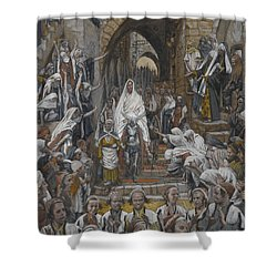 The Procession In The Streets Of Jerusalem Shower Curtain by Tissot