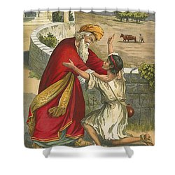 The Prodigal's Return Shower Curtain by  English School
