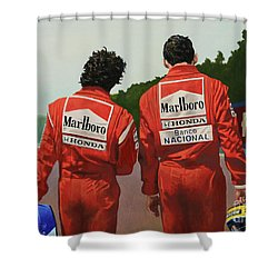 The Professor And The Magician Shower Curtain
