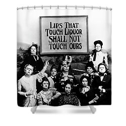 The Prohibition Temperance League 1920 Shower Curtain by Daniel Hagerman