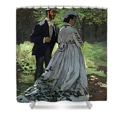 The Promenaders Shower Curtain by Claude Monet
