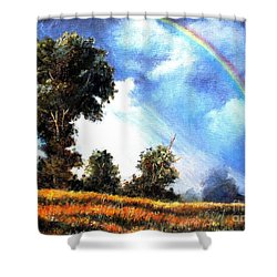 Shower Curtain featuring the painting The Promise  by Hazel Holland