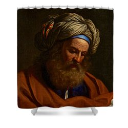 Shower Curtain featuring the painting The Prophet Isaiah by Celestial Images