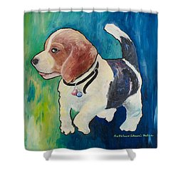 The Proud Puppy Shower Curtain