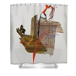 The Proud Rooster Shower Curtain