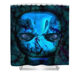The Pukel Stone Face Shower Curtain