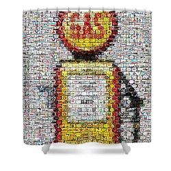 The Pump Mosaic Shower Curtain by Paul Van Scott