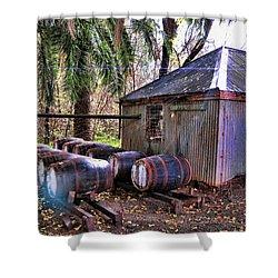 The Pumphouse Shower Curtain by Douglas Barnard