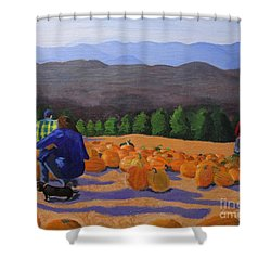 The Pumpkin Patch Shower Curtain