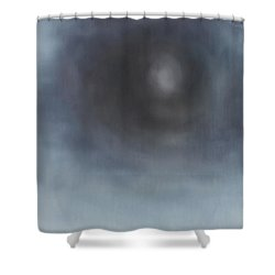 Shower Curtain featuring the painting The Pure Art Emits A Kind Of Pure Beauty by Min Zou