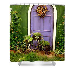 The Purple Door Shower Curtain